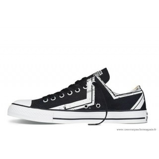 All Star Basse Homme Converse Chuck Taylor Noir Stripes Star