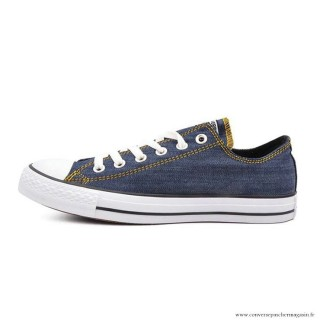 Converse All Star Basse Toile Chaussures Homme Bleu Blanche