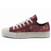 All Star Converse Aimer Rouge Graffitis