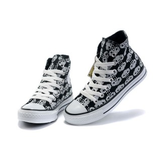 All Star Converse Amour Squelette Noir