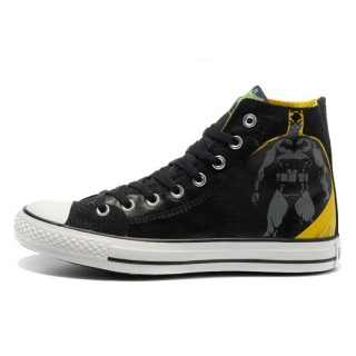 All Star Converse Batman Impression Graffitis Jaune Noir