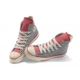 All Star Converse Blanc Bleu Drapeau Usa Langue Rouge