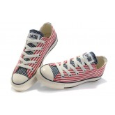 All Star Converse Blanc Rouge Usa Flag Langue Bleue