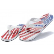 All Star Converse Blanc Usa Cuir Drapeau