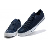 All Star Converse Bleu Avec Bordure En Cuir