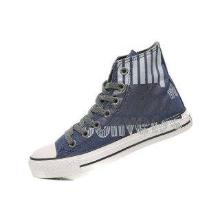 All Star Converse Blue Usa Drapeau Et Lettres Graffiti