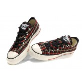 All Star Converse Boeuf Plaid Rouge Jaune