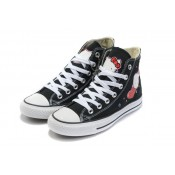 All Star Converse Bonjour Kitty Noir