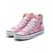 All Star Converse Bonjour Kitty Rose