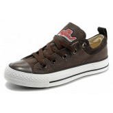 All Star Converse Brun Glissement En Daim