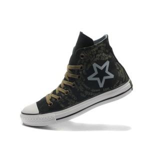 All Star Converse Cercle étoiles Graffiti Noir