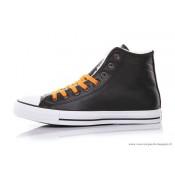 Converse All Star Haute Homme Cuir Chaussures Avec Velours Noir Blanche