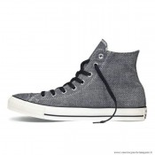 Antiskid Chaussures Converse Chuck Taylor All Star Haute Toile Clathrate Noir Blanche