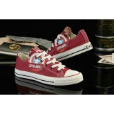 Captain America Converse Avengers All Star Basse Toile Profond Rouge
