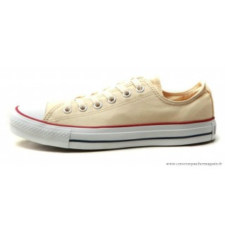 Chaussures Beige Blanche Converse All Star Basse Leisure