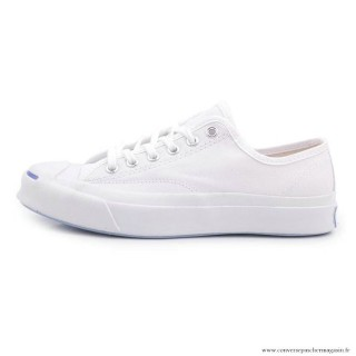 Chaussures Blanche Beige Converse Jack Purcell Basse Toile