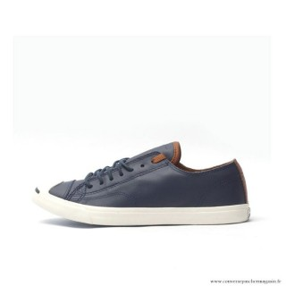 Chaussures Bleu Blanche Converse Jack Purcell Basse Homme Cuir