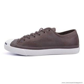 Chaussures Chocolat Converse Jack Purcell Basse Homme Cuir