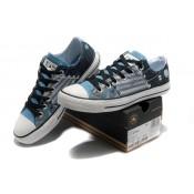Chaussures Converse Le Punk Imprimé Bleu Pirate Touches D'horloge Motif