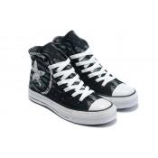Chaussures Converse Lettre De Cachet Noir Logo Blanc