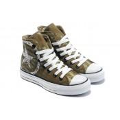 Chaussures Converse Lettre De Label Vert Logo Blanc