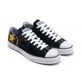 Chaussures Converse Logo Noir Jaune