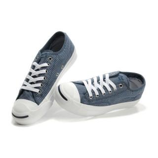 Chaussures Converse Marine à Carreaux Blanc