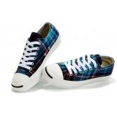 Chaussures Converse Plaid Bleu Britpop