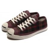 Chaussures Converse Plaid Scottland Cuir Purpe De Boeuf