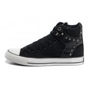 Chaussures Converse Rivet Cuir Noir