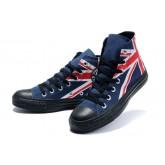 Chaussures Converse Uk Drapeau Noir Blanc Rouge