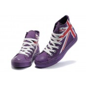 Chaussures Converse Uk Flag Blanc Rouge Pourpre
