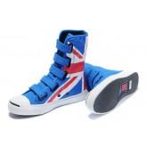 Chaussures Converse Uk Flag Velcro Bleu