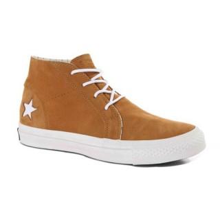 Chaussures Converse Une étoile Boeuf Orange Et Cuir Beige