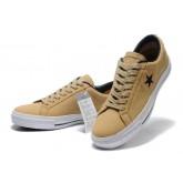 Chaussures Converse Une étoile En Cuir Kaki En Daim Boeuf