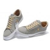 Chaussures Converse Une étoile En Daim Gris Boeuf En Cuir