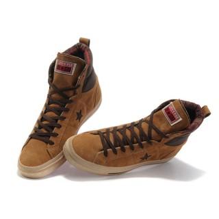 Chaussures Converse Une étoile En Daim Kaki Chameau