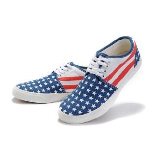 Chaussures Converse Usa Drapeau Bleu Blanc Rouge