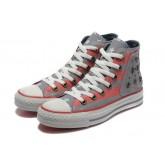 Chaussures Converse Usa Drapeau Rouge Gris
