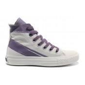 Chaussures Converse Violet Blanc Peint