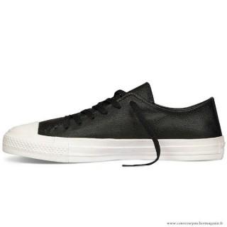Chaussures Noir Converse All Star Basse Homme Cuir