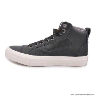 Chaussures Noir Homme Converse Chuck Taylor All Star Haute Cuir