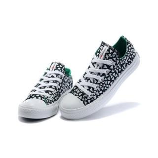Chaussures Converse Triangle Blanc Impression Marimekko Noir