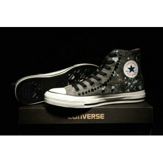 Converse Chuck Taylor All Star Haute Homme Chaussures Camo Stud Grise Noir