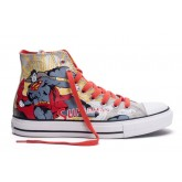 Converse France Chuck Taylor All Star Superman Impression Gris Rouge