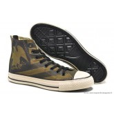 Converse Chuck Taylor All Star Zip Haute Imprimer Eagle Stripes Grise