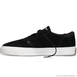 Homme Converse Cons Basse Sports Chaussures 147867 Noir Blanche
