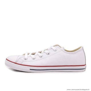 Converse All Star Basse Cuir Antiskid Chaussures Blanche