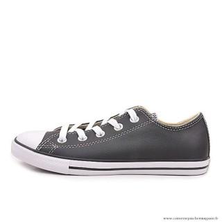 Converse All Star Basse Cuir Antiskid Chaussures Noir