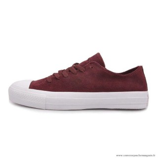 Converse All Star Basse Homme Suede Rufous Blanche